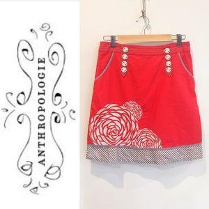 Floreat (Anthro) orange skirt sz2